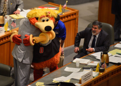 Orbit shows up at the roundhouse to support House bill  282.